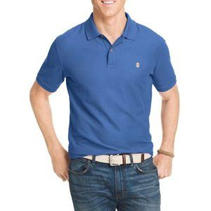 NEW Izod Pique Polo Shirt in Blue Revival
